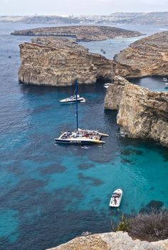 The island of Comino is the smallest island in the Maltese Archipelago. The water surrounding Comino is some of the bluest blue I've ever seen. #travel #Malta