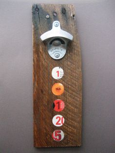 19125 Zip Code Wall-Mounted Bottle Opener - Salvaged Shipping Pallet Art