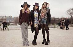 Nefeli Georgala, Antria Aletrari and Natalia Georgala, Paris Fashion Week  © Marie-Charlotte Pezé