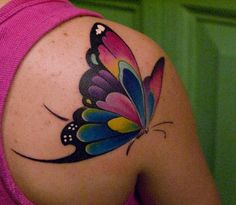1000 images about tattoos butterflies faeries and wings on pinterest butterfly tattoos - Tatouage papillon epaule ...