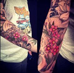 Japanese art based tattoos
