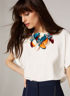 Uterqüe Spain - Canary Islands Product Page - Jewellery - View all - Floral multicolour bib necklace - 79