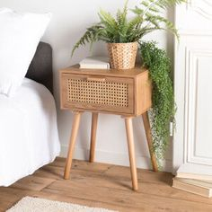 Rattan Furniture, Home Decor Furniture, Furniture Design, Small Room Bedroom, Bedroom Decor, Side Table Decor, Warm Home Decor, Minimalist Room, Home Decor Inspiration