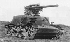 Soviet SU-6 self-propelled artillery gun based on T-26
