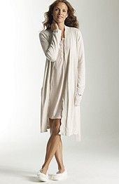 J.Jill Sleep cotton  cashmere robe, $99