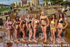 Eight 2014 Members of the Elite Pennsylvania Bikini Team @ PNC Park Group Photo Shoot on 10/6/13.