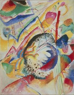 Kandinsky painted not only the visual world around him but was the first artist to also experiment painting the things that aren't visible but can be expressed through colour and shape, like sounds, music and emotions