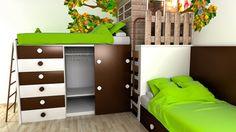 Small kids room // nedidelis vaikų kambarys. Domoplius.lt