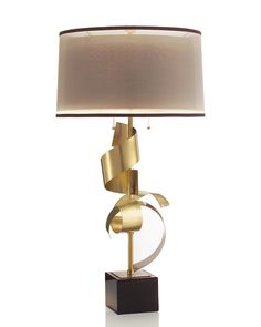 "Limited Production Design: 39"" Grand Scroll Architectural Table Lamp * Click Image For Full Screen View"