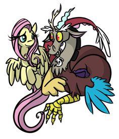 #935717 - artist:carnivorousponyfluff, discord, discoshy, fluttershy, safe, shipping, straight - Derpibooru - My Little Pony: Friendship is Magic Imageboard