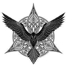 Celtic Raven Tattoo, Celtic Tattoos, Celtic Tattoo For Women, Wiccan Tattoos, Indian Tattoos, Viking Tattoos For Men, Arabic Tattoos, Tattoo Women, Body Art Tattoos