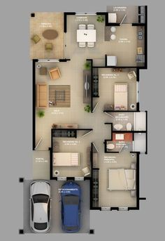 Tips And Techniques For modern home design plans 3d House Plans, Indian House Plans, Home Design Floor Plans, Dream House Plans, Modern House Plans, Small House Plans, Modern House Design, 3d Home, Contemporary House Plans