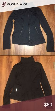 Zella Jacket Black active jacket only wore twice, Very good condition, zippered pockets, extremely comfortable, it will go with everything Zella Jackets & Coats