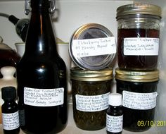My homemade tinctures