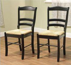 #Black #WovenSeats #Kitchen #Wooden #SolidWoodChair  #WoodDiningChairs #RusticPrimitive