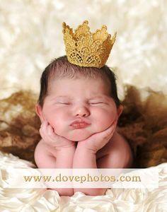 ADORABLE!!! :)    Princess Crown Newborn photography prop  by UrsulaGlassGoddess, $16.00