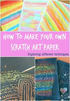 How to make your own scratch art paper. Colouring in Crayon and Painting OVER with black (Posittional Language)