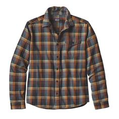 Patagonia Men's Long Sleeved Lightweight Fjord Flannel Shirt- Tapenade from Shop Southern Roots TX