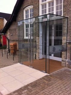 Frameless Bespoke Glass Structures - Lorkins Contracts Ltd - gallery House Extension Design, Glass Extension, House Design, Glass Porch, Glass Roof, Porch Doors, Porch Entry, House With Porch, House Front