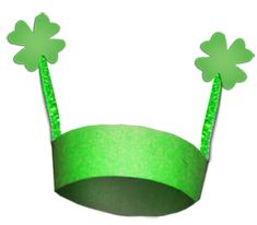ST. PATRICK'S DAY FOUR LEAF CLOVER HAT CRAFT : Saint Patrick's Day Arts and Crafts Ideas for Kids