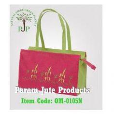 This is Jute Designer Bag, made of Eco friendly jute fabrics with zipper & long self handle.