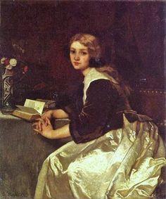 Alfred Stevens (Belgian Painter, 1823-1906) Reverie