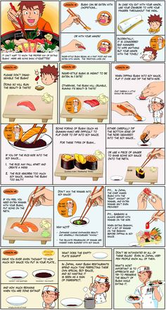 How to Eat Sushi (Sushi Etiquette)    Source: http://www.cheftaro.com/foodamentals