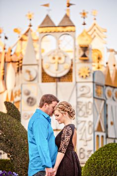 It's a Small World - Disneyland Honeymoon Photos: Haley + Daniel. See the rest of the Disney photos at http://magicaldayweddings.com/disneyland-honeymoon-photos-haley-daniel/