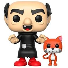 Funko Pop Animation: Smurfs-Gargamel (with Azrael) * Click image for more details. (This is an affiliate link) #ActionFiguresStatues