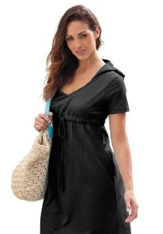 Jessica London Plus Size Hooded Coverup