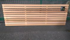 Western red cedar, slatted screen fence panel, horizontal fencing 1800mm wide #PrideHomeServices