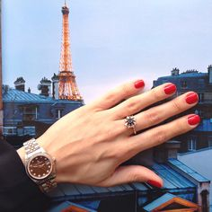 """is called the """"City of Love"""" for a number of reasons, including its sights, its native language and its popularity as a honeymoon destination.. We decided to take it one step further and bring Paris to our lovers! The crystal black diamond vintage ring: www.shireeodiz.com/mandala/crystal-black-diamond-vintage-ring-in-rose-gold"""