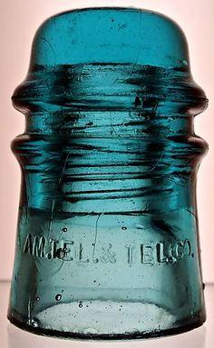 CD 121 Hemingray made AM Tell in Hemingray Blue