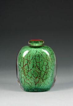 Marice Marinot - glass vase, 1925.