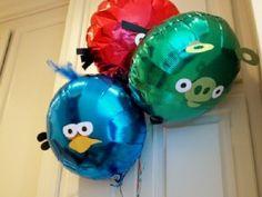 angry bird balloons - free printable templates