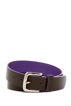 Flat Strap Colored Lining Leather Belt