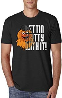 Gettin Gritty With It Flyers Mascot Philly Philadelphia Hockey Customized  Handmade T-Shirt Hoodie  d61375b1f