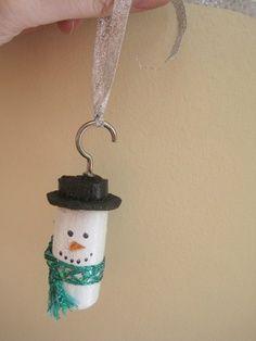 Snowman wine cork