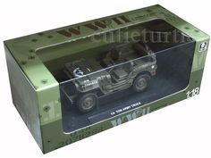 Welly 18036 1/4 Ton US Willys Army Jeep 1/18 Diecast Green #Welly #WW2