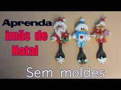 YouTube Xmas Crafts, Diy Christmas Ornaments, Diy And Crafts, Arts And Crafts, Polymer Clay Christmas, Polymer Clay Crafts, Cold Porcelain, Porcelain Ceramics, Christmas Biscuits