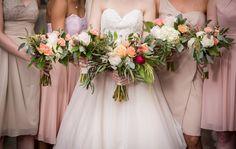 Bridal & bridesmaids flower bouquets