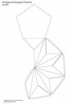 Paper Model of a Pentagonal-decagonal Pyramid (triakis pentagonal pyramid)