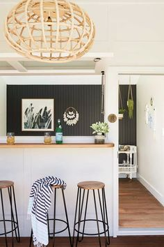 Boutique holiday home SOUL of Gerringong up for sale - The Interiors Addict Rebecca Judd, Melbourne, Sydney, Outdoor Stone Fireplaces, Queen Room, Beach Shack, Open Plan Living, Coastal Style, Modern Coastal