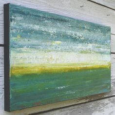 Abstract Seascape Painting - Evening on the Ocean (10x20). $89.00, via Etsy.