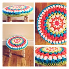 Crochet stool cover I made this weekend.