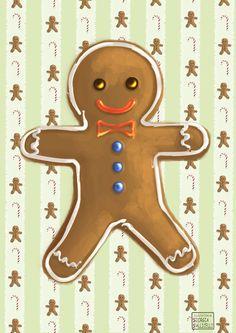 Christmas Time  Gingerbread Man by FairyWorld84