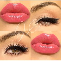 Gorgeous makeup. This lip color is to die for!