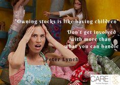 Owning stocks is like having children