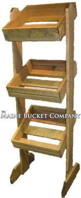 Custom Wooden Mobile Shelving Rack
