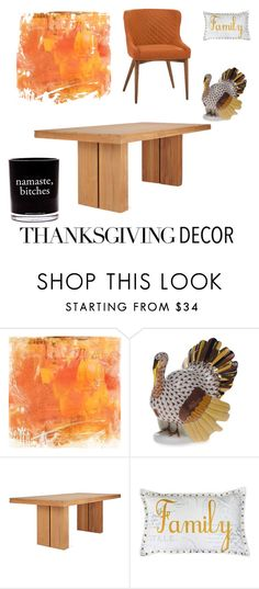 """""""Thanksgiving"""" by overdose-onstyle ❤ liked on Polyvore featuring interior, interiors, interior design, home, home decor, interior decorating, Home Decorators Collection, Herend, Thro and Damselfly Candles"""